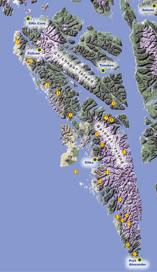 Pelican Bay Alaska Map.Sitka Remote Freshwater Fishing Alaska Outdoors Supersite