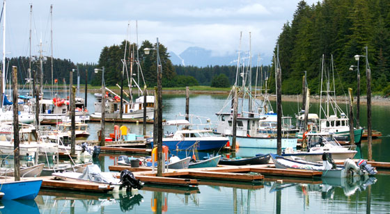 The harbor at Cordova, Alaska