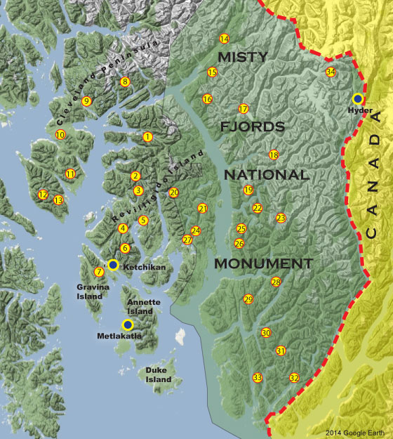 Ketchikan Alaska Map Google.Ketchikan Remote Freshwater Fishing Alaska Outdoors Supersite
