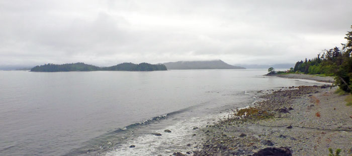 Sitka coastline from the downtown area