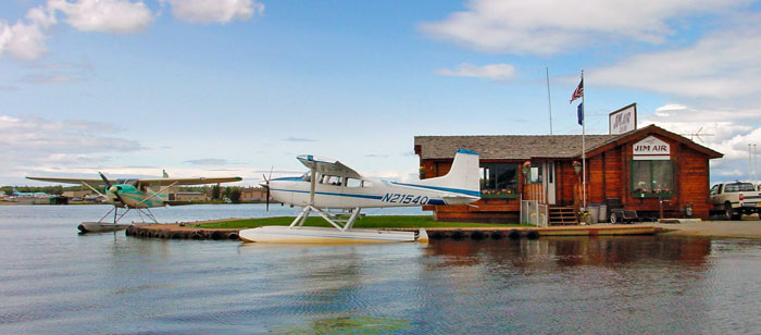 Float planes on Lake Hood, Anchorage, Alaska