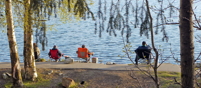 Fishing DeLong Lake, Anchorage, Alaska