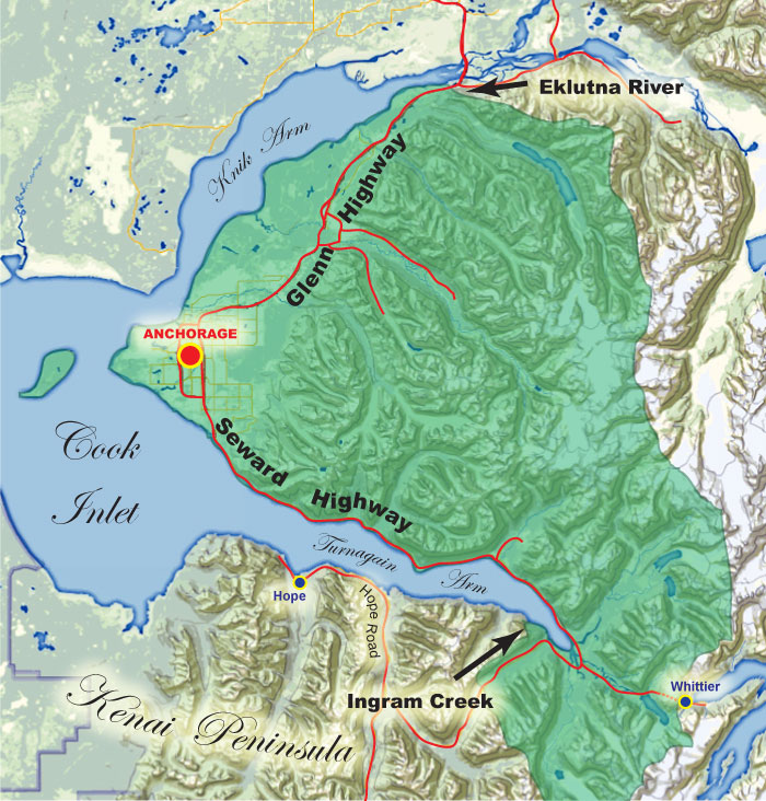 Anchorage Management Area Map (detailed)