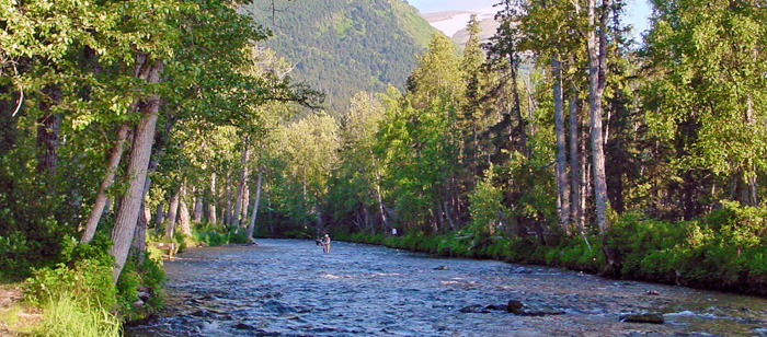 Fishing in Alaska's Russian River
