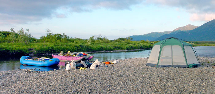 Relaxing on Alaska's Goodnews River