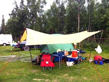Camping at Diamond M Ranch, Kenai, Alaska
