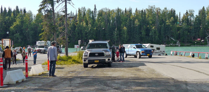 The boat ramp at Centennal Campground, Kenai River, Alaska