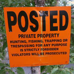 no trespassing sign, Copper River, Alaska