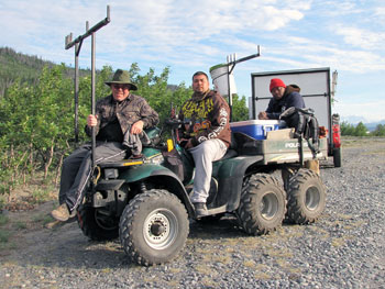 ATV headed up Wood Canyon on Alaska's Copper River