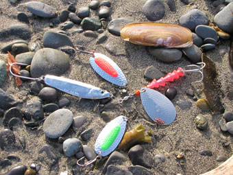 Lures used for surf fishing in Alaska
