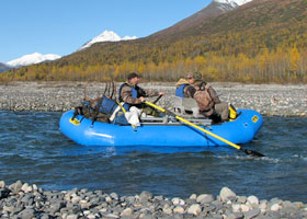 Float hunting on a larger Alaska river