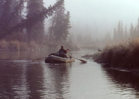 Float hunting a smaller Alaska river