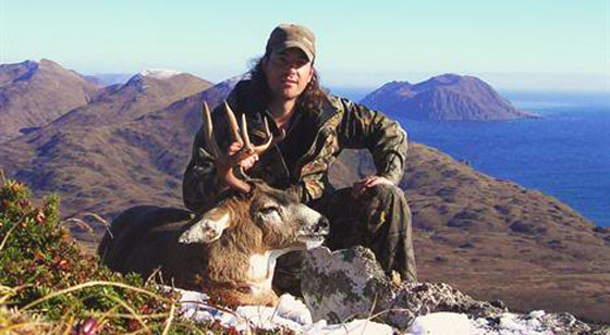 Sitka blacktail deer taken on Kodiak Island, Alaska