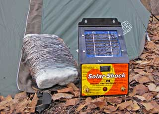 Solar Shock electric fence setup