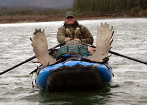 SOAR Pro Pioneer inflatable canoe on a remote Alaska float hunt for moose