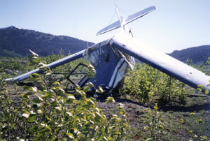 Crashed Helio Courier in the Alaska Range