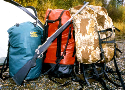 Bill's Bag 3.8, Bill's Bag 2.2, Barney's Moose Pack on an Alaska float hunt for moose