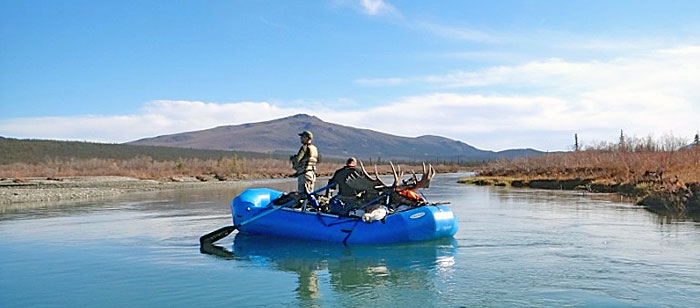 Float hunting for moose on a remote Alaska river.