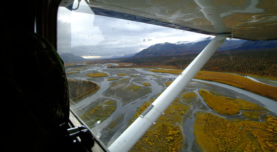 Flyby on Noatak River, Alaska