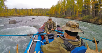 Float hunting with Michael Strahan, Alaska