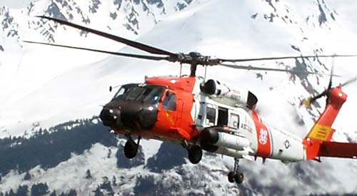 Coast Guard Helicopter on Rescue Mission