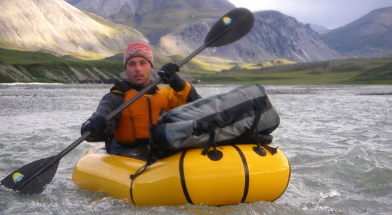 alpacka raft on a remote Arctic river in Alaska