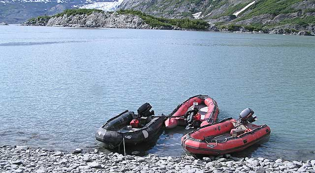sportboats on Alaska lake