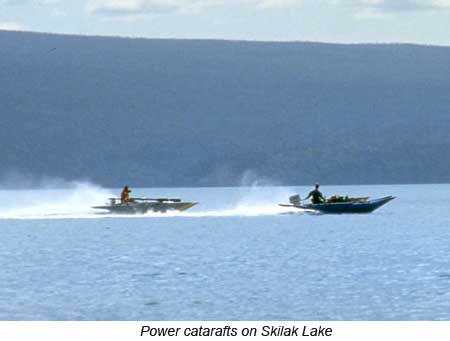 power cats on Skilak Lake, Alaska