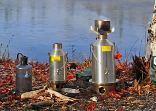 Kelly Kettle wood-fired backpack stove