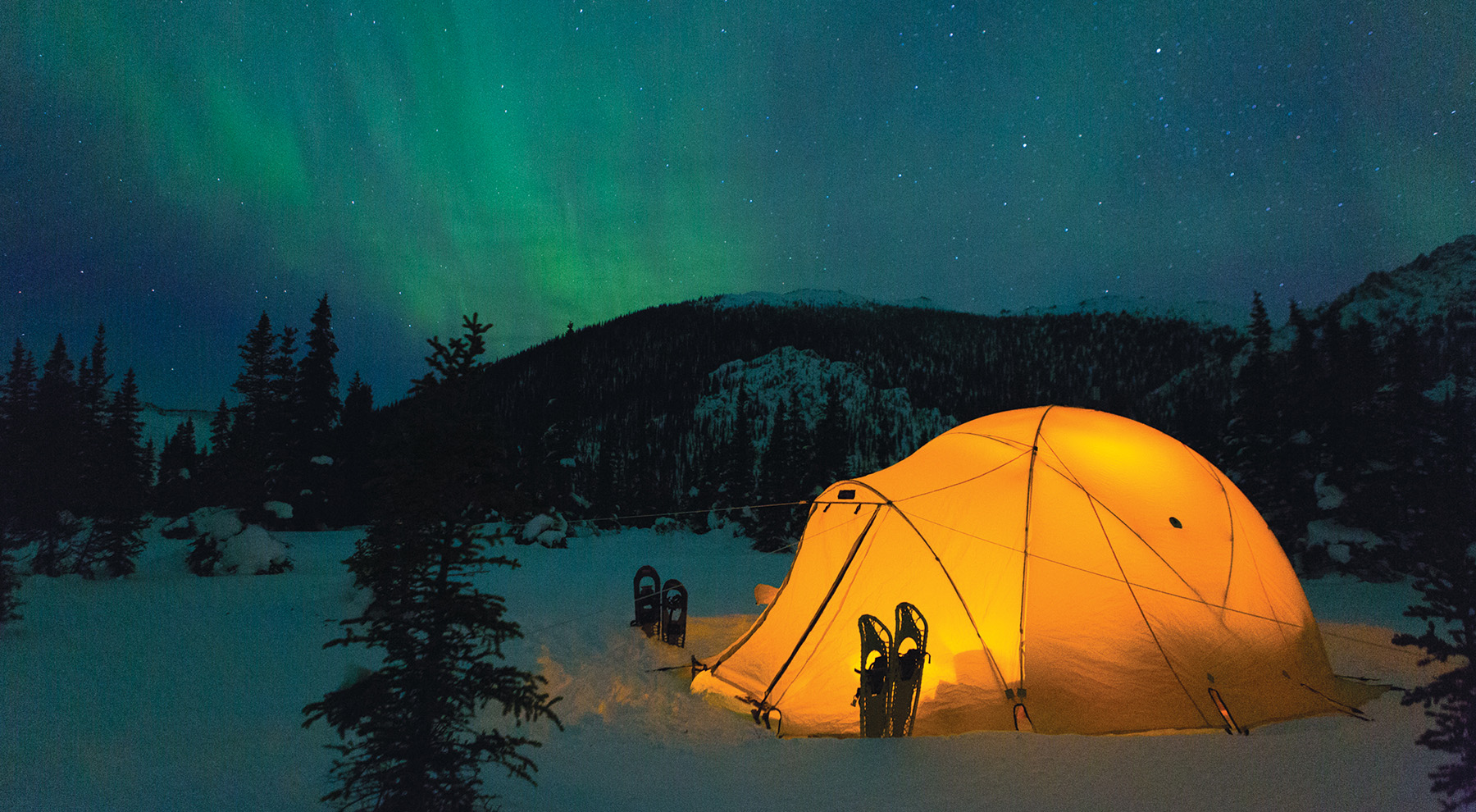 The Arctic Oven tents really shine in winter conditions.