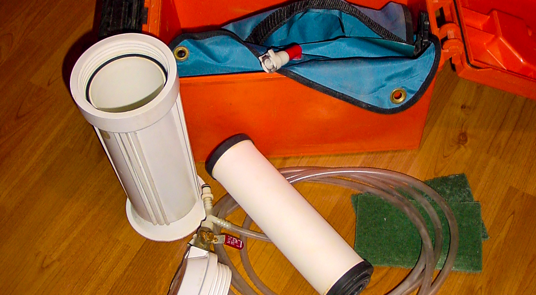 RAFT bulk water filtration system for remote expeditions