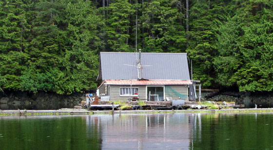 float house on Prince of Wales Island, Alaska