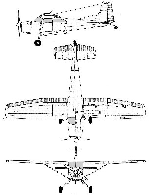Cessna 185 line drawing