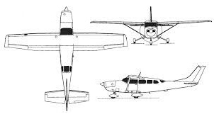 Cessna 206 line drawing