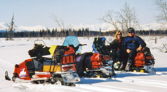 Snowmachining the Alaska Range in April
