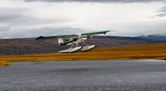 Super Cub on floats in Alaska